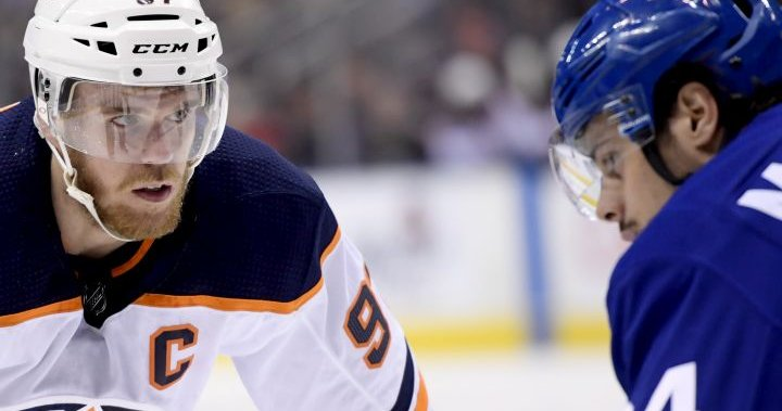 McDavid's Oilers, Matthews' Leafs ready for first of 9 meetings this NHL season